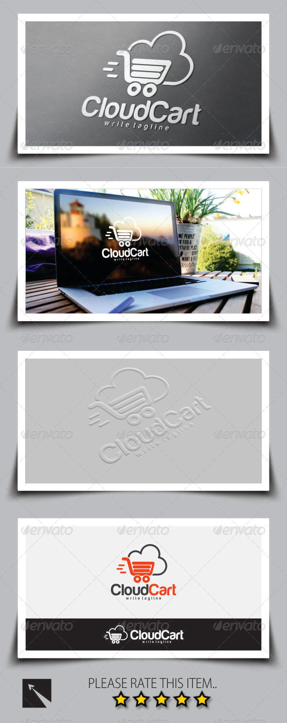 Cloud Cart Shopping Logo Template