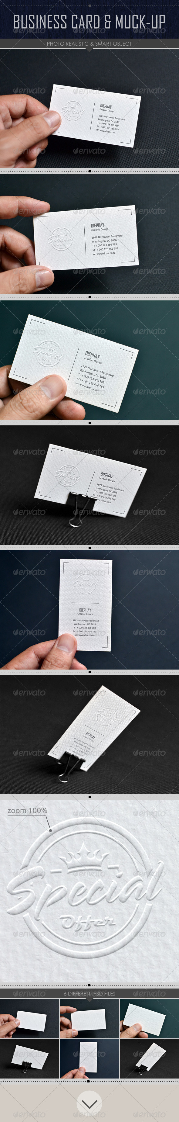 GraphicRiver Business Card Mock-up 8391433