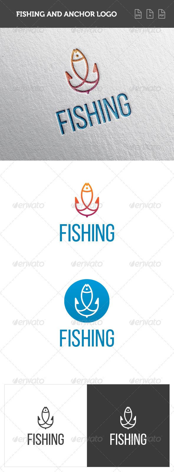 GraphicRiver Fishing and Anchor Logo 8391490