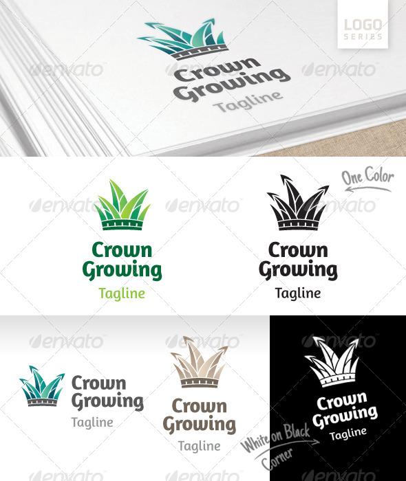 GraphicRiver Crown Growing Logo 8391515