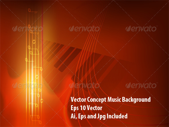 GraphicRiver Music Background 8391541