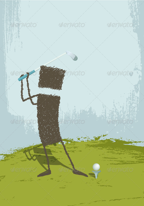 GraphicRiver Golfer 8391551