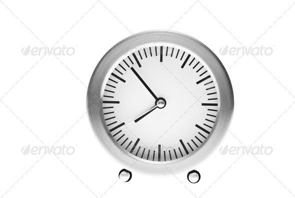 seven minutes to eight - Stock Photo - Images