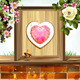 Window Frame with Heart and Flowers - GraphicRiver Item for Sale