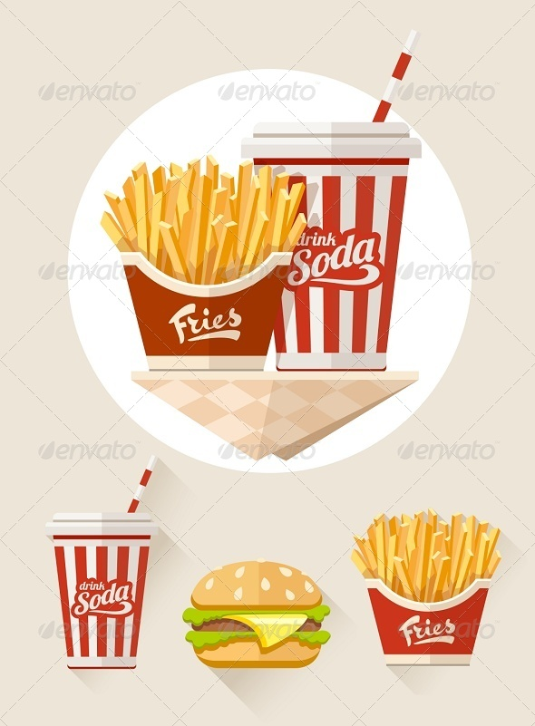 GraphicRiver French Fries and Soda in Paper Cup 8391608