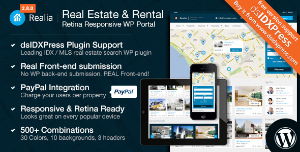 Realia - Responsive Real Estate WordPress Theme - Banner