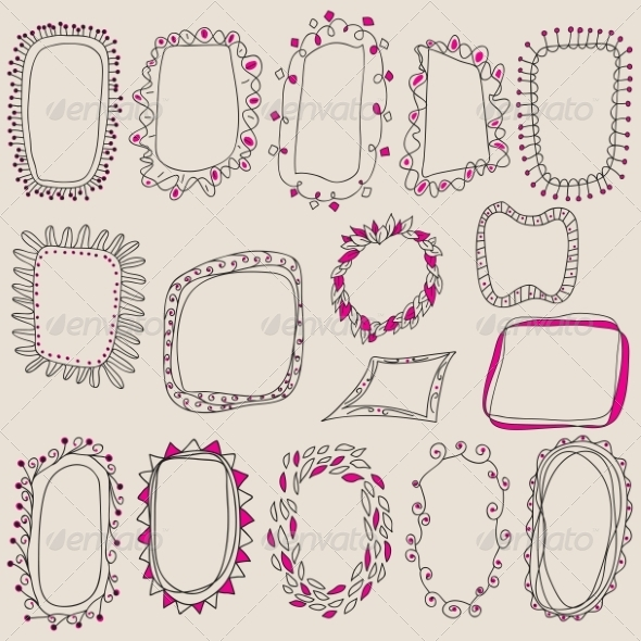 GraphicRiver Collection of Hand Drawn Frames 8391640