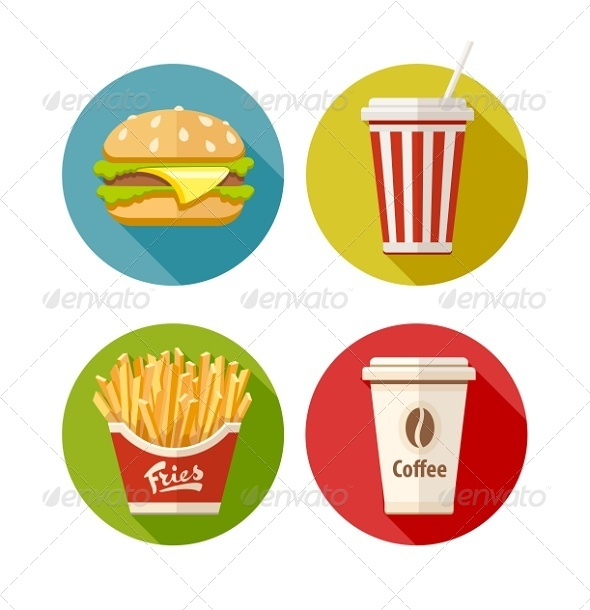 GraphicRiver Set of Fast Food Flat Icons 8391654