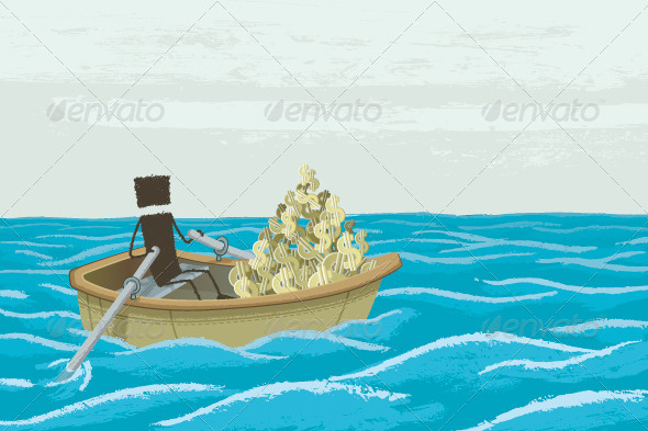 GraphicRiver Boat Full of Money 8391661
