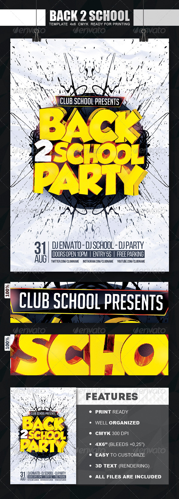 GraphicRiver Back To School Party Flyer 8391664
