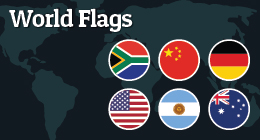 World Icon Flags [Flat & Glossy]