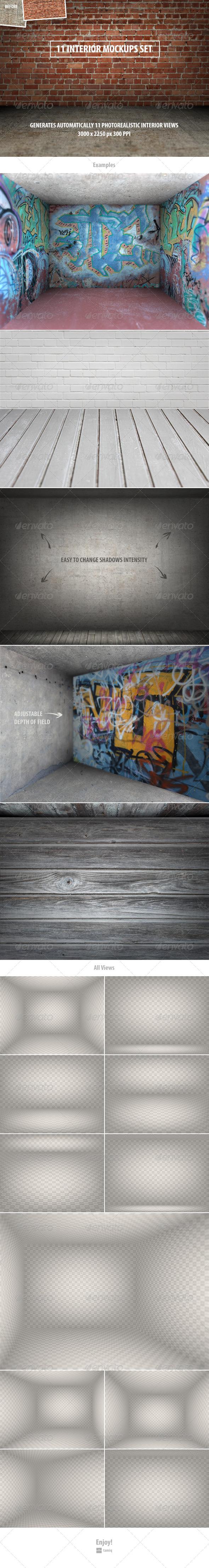 GraphicRiver 11 Interior Mockups Set 8391790