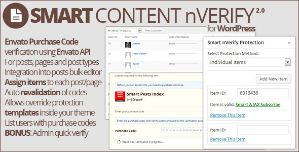Smart Content nVerify - CodeCanyon Item for Sale
