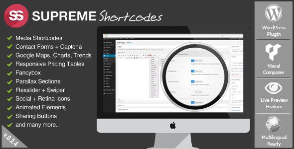 Supreme Shortcodes   WordPress Plugin - CodeCanyon Item for Sale