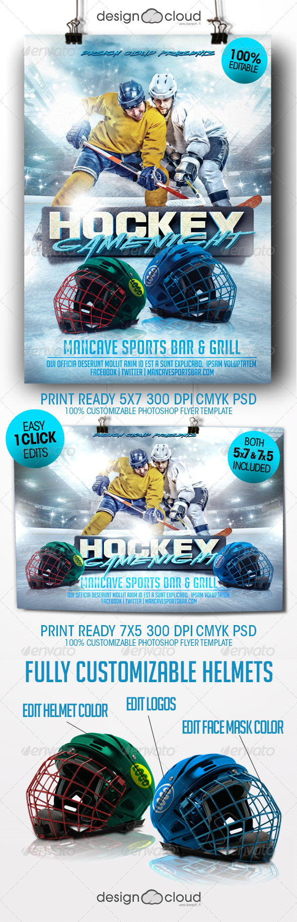GraphicRiver Hockey Game Night Flyer Template 8391992