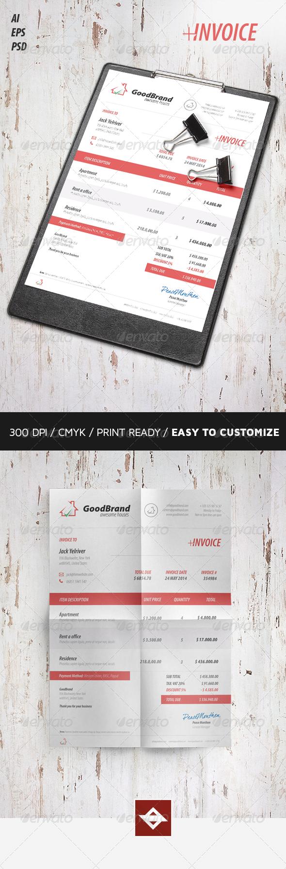 GraphicRiver Invoice 8391997