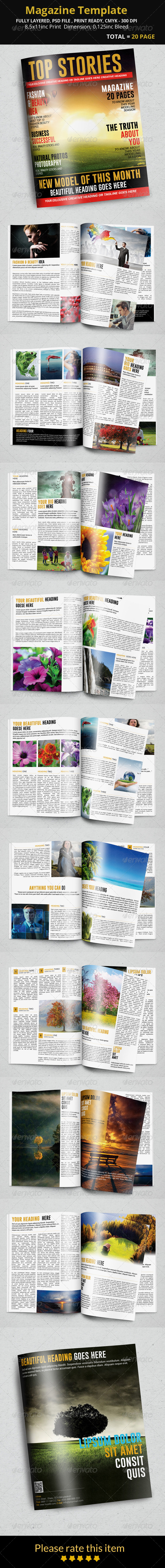 GraphicRiver Magazine Template 8392014