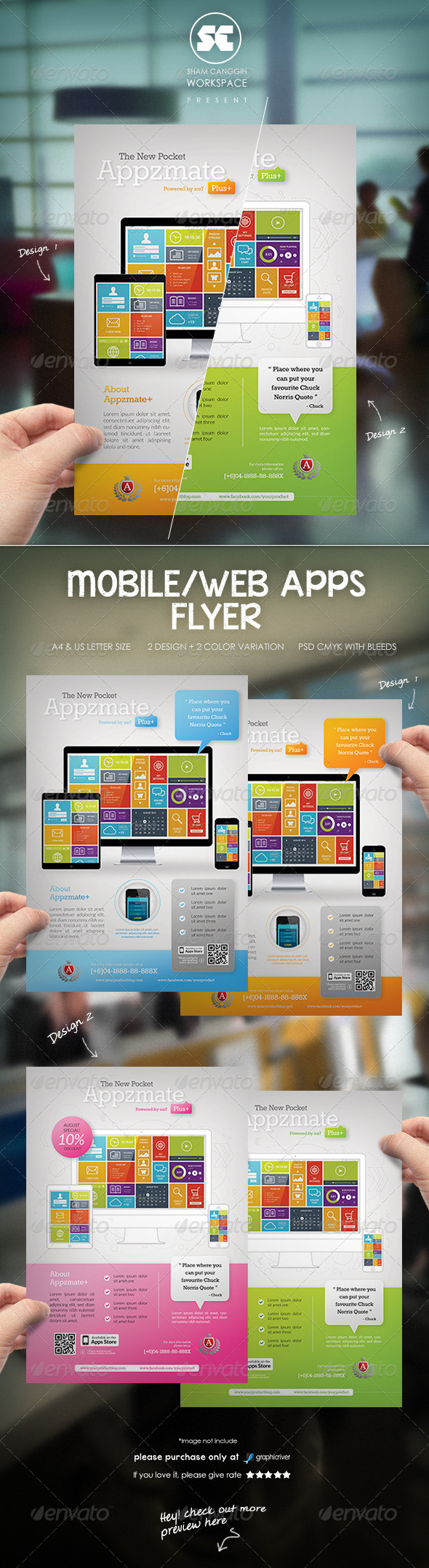 GraphicRiver Mobile Apps Business Flyer Magazine Ads 8392021