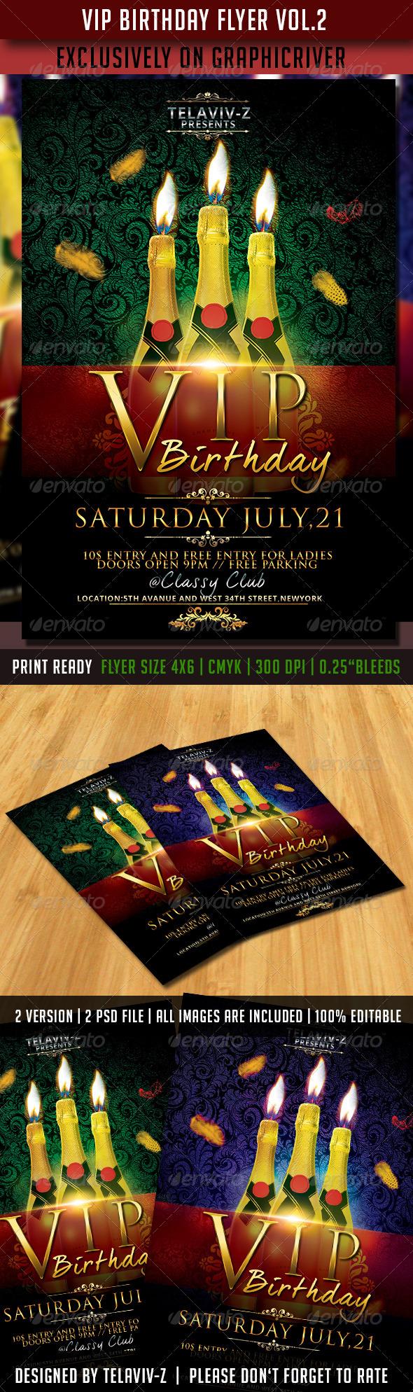 GraphicRiver VIP Birthday Flyer Vol.2 8392026