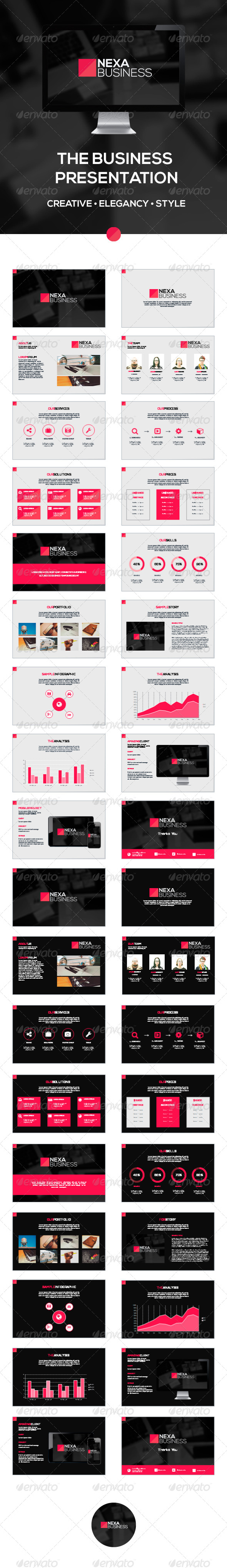 GraphicRiver Nexa Business PowerPoint Template 8392037