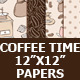 Coffee Digital Paper Pack - GraphicRiver Item for Sale