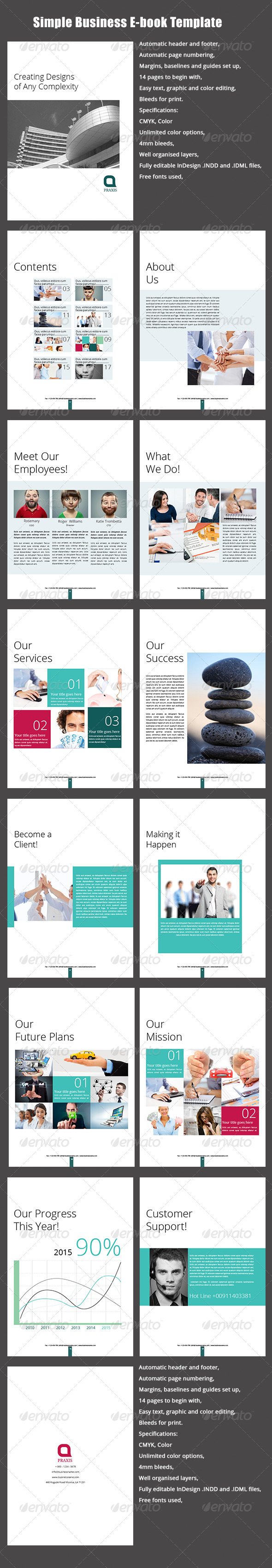 Simple Business E-book Template