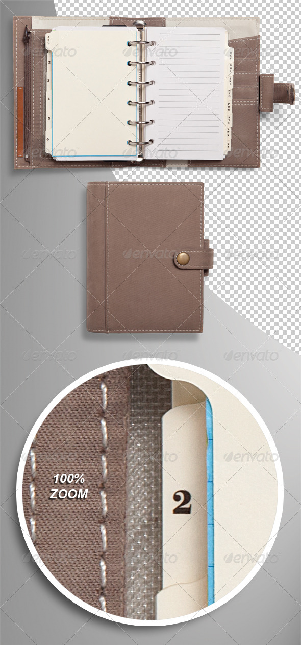 GraphicRiver Pocket Organiser Diary Photo-realistic Isolated 5265669