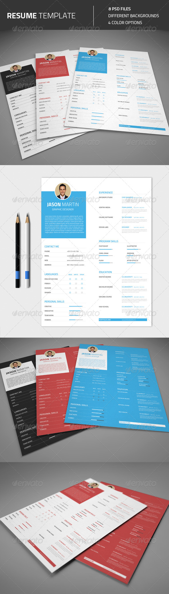 GraphicRiver Resume CV 8392097