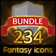 234 RPG Fantasy Spells Icons Bundle - GraphicRiver Item for Sale