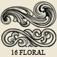 Set of 16 Floral Elements - GraphicRiver Item for Sale