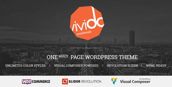 ThemeForest Vivido One Page WordPress Theme 8241019