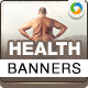 Healthy Life Style Banner Set - GraphicRiver Item for Sale