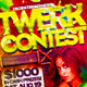 Twerk Contest Flyer Template PSD