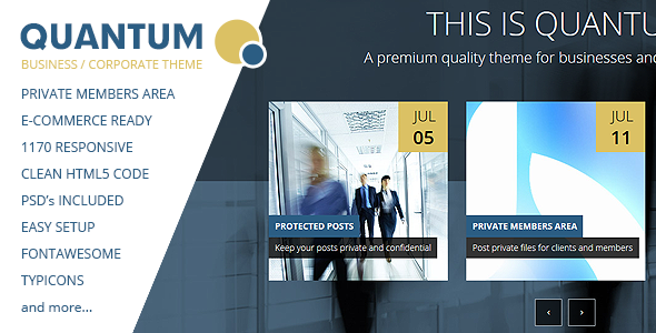 ThemeForest QUANTUM Responsive Business Template 8353729