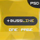 Free BusinessLine – Onepage Business .PSD Theme (Business) Download