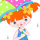 Girl with Umbrella - GraphicRiver Item for Sale