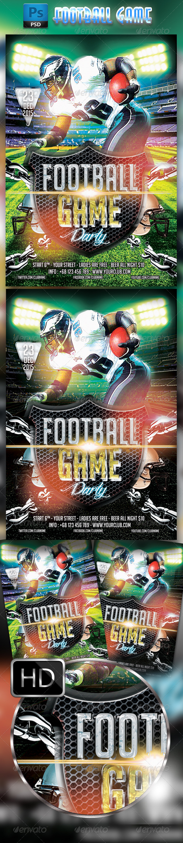 GraphicRiver American Football Flyer 8395246