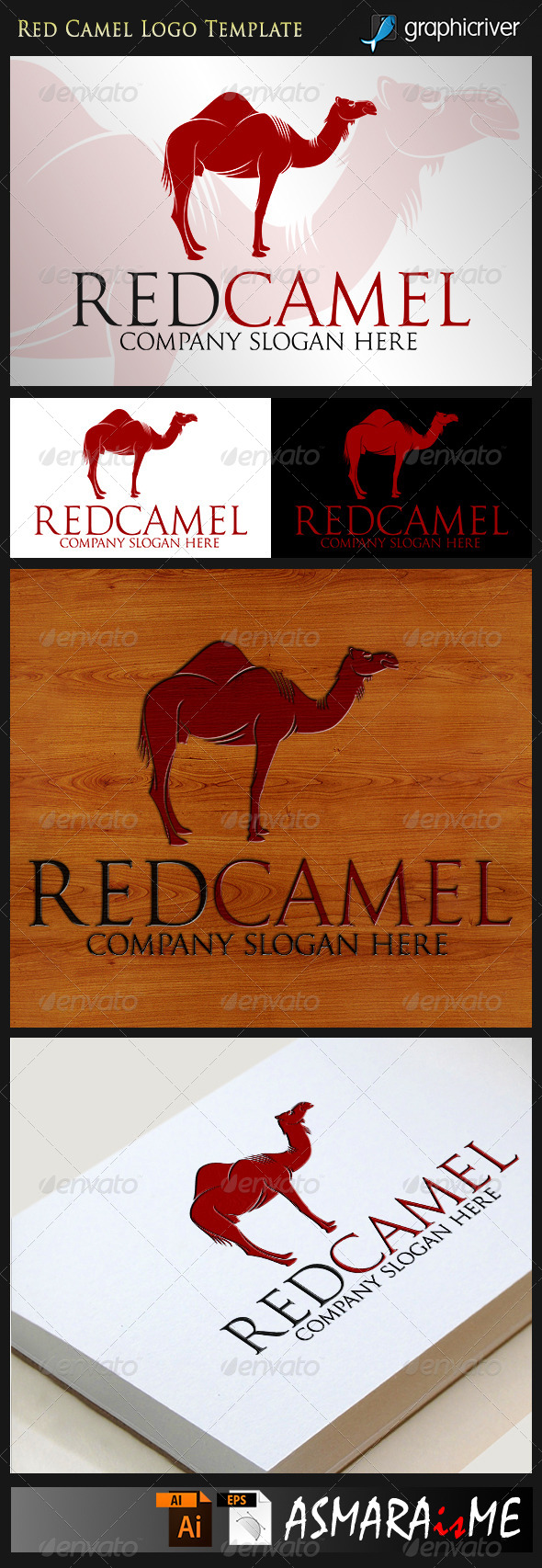 GraphicRiver Red Camel Awesome Company Logo 8391924