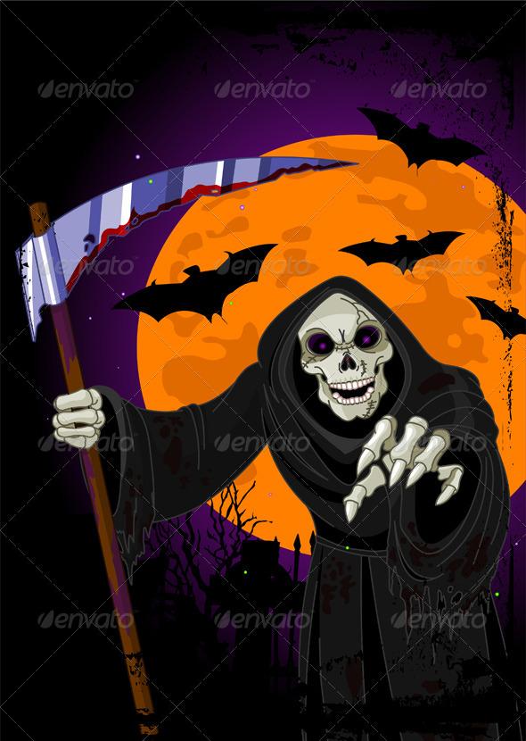 GraphicRiver Halloween Grim Reaper 8395263