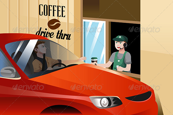 GraphicRiver Barista Serving Customer 8396156