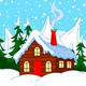Little House on Snow Hill - GraphicRiver Item for Sale