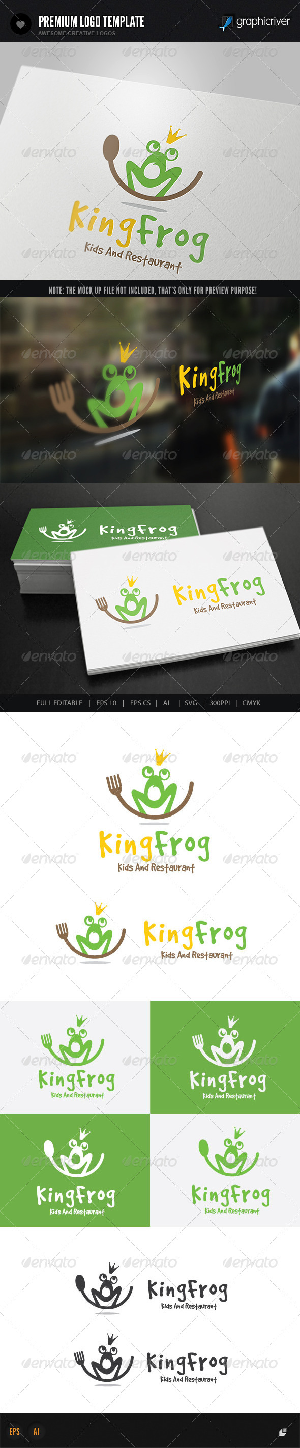 GraphicRiver King Frog Restaurant 8398845