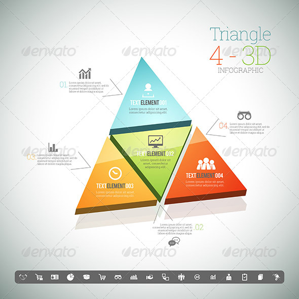 GraphicRiver Triangle Four 3D Infographic 8398908