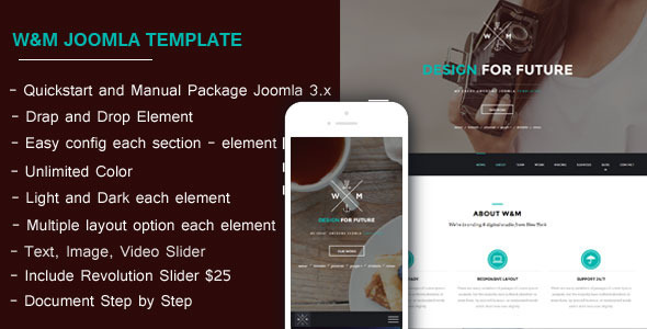 WM One Page Multi-Purpose Joomla Template