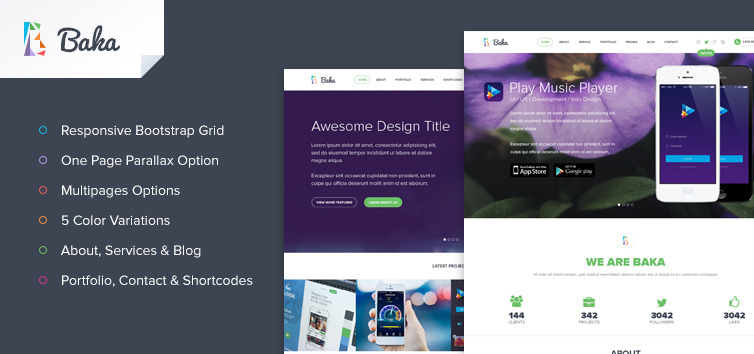 Baka Multipurpose HTML Template