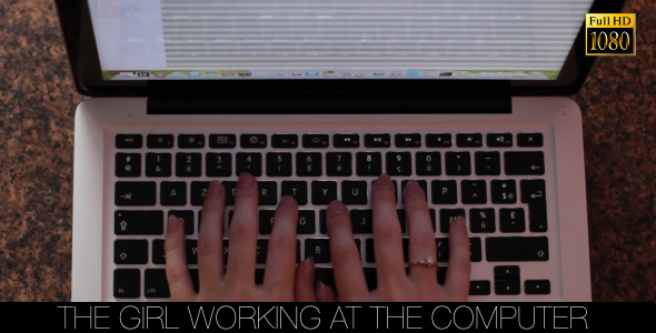 The Girl Working At The Computer 8