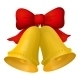 Golden Christmas Bells with Red Bow - GraphicRiver Item for Sale