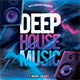 Deep House Music CD Cover Template