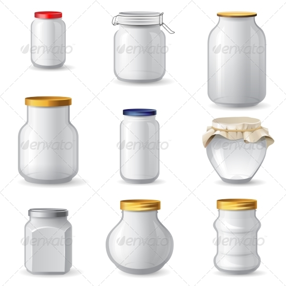 GraphicRiver Empty Glass Jars 8399128
