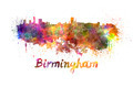 Birmingham skyline in watercolor - PhotoDune Item for Sale